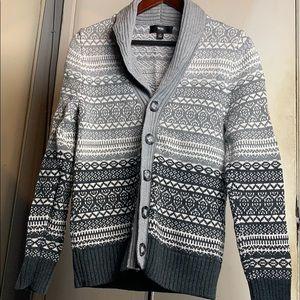Grey shawl cardigan
